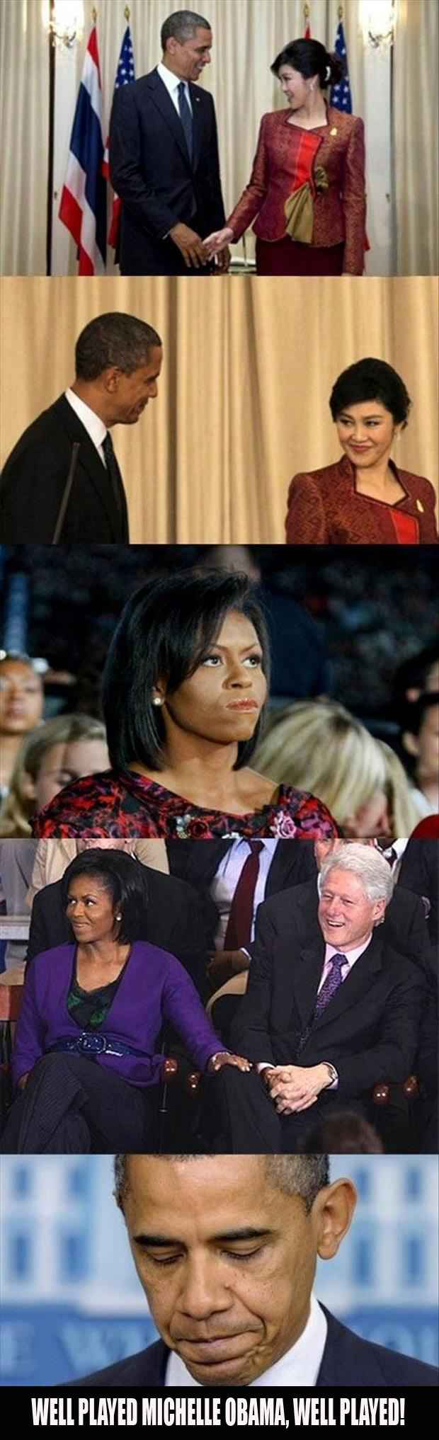 a well played Michelle Obama