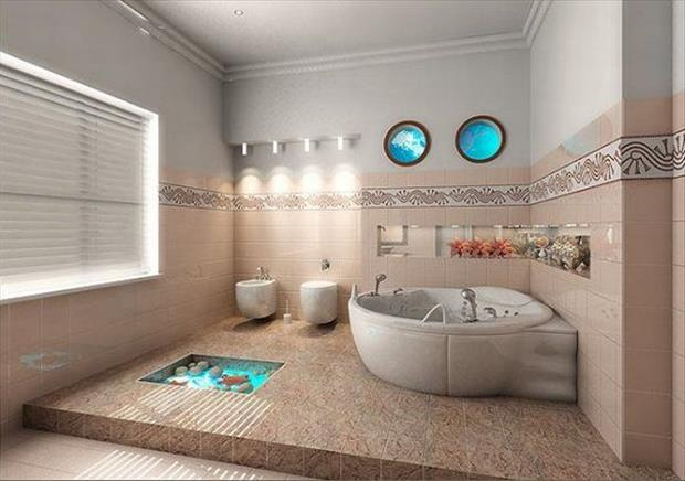 big bathroom with tub