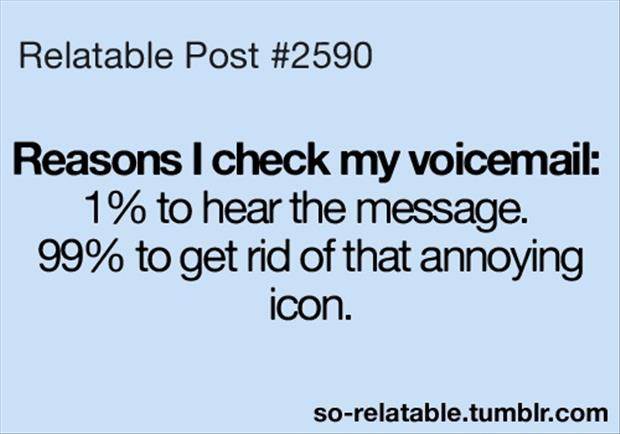 check your voice mail