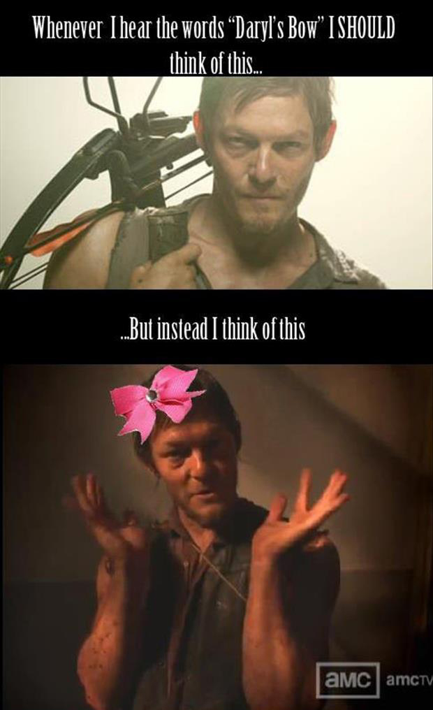 daryl dixon's bow funny pictures