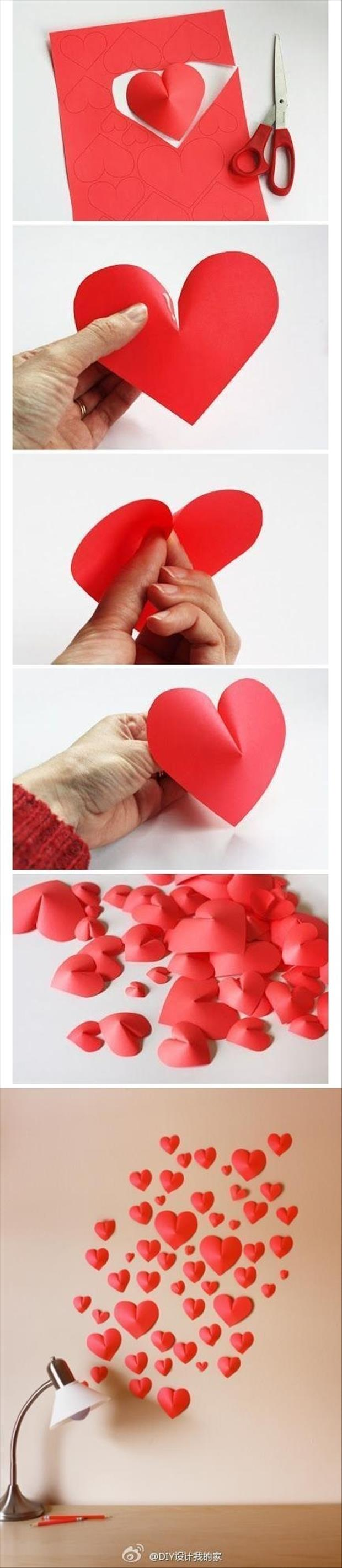do it yourself crafts how to make 3d hearts