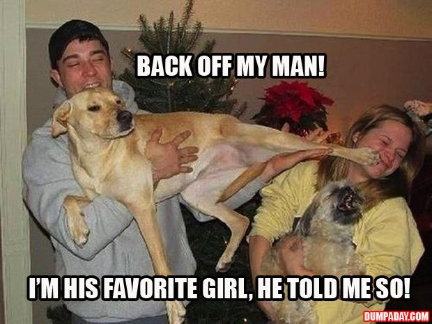 dog hates girlfriend