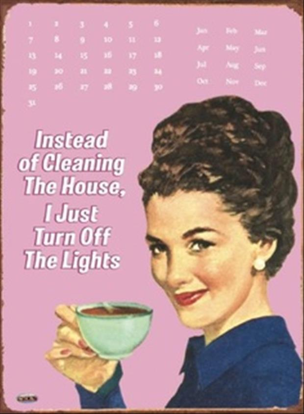 don't clean the house, just turn off the lights funny quotes