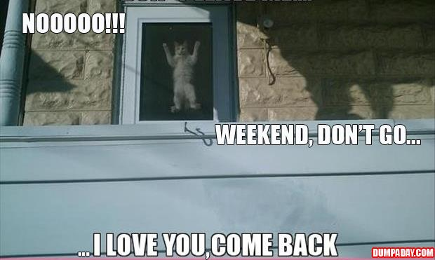 don't leave me weekend I love you come back