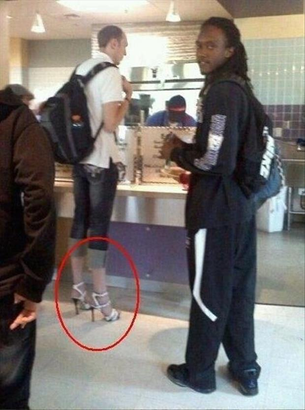 dude in high heels