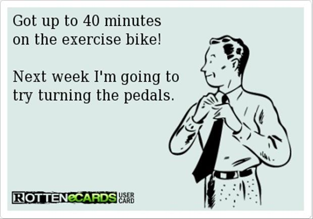 exercise bike funny quotes