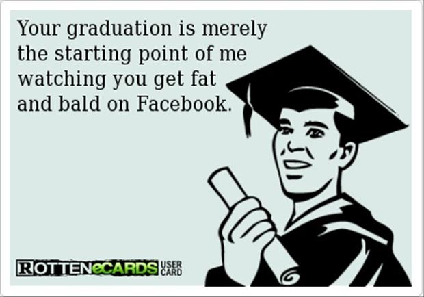 fat and bald funny facebook graduation