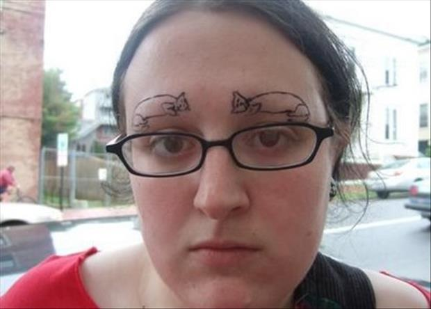 funny eyebrows, dumpaday (7)
