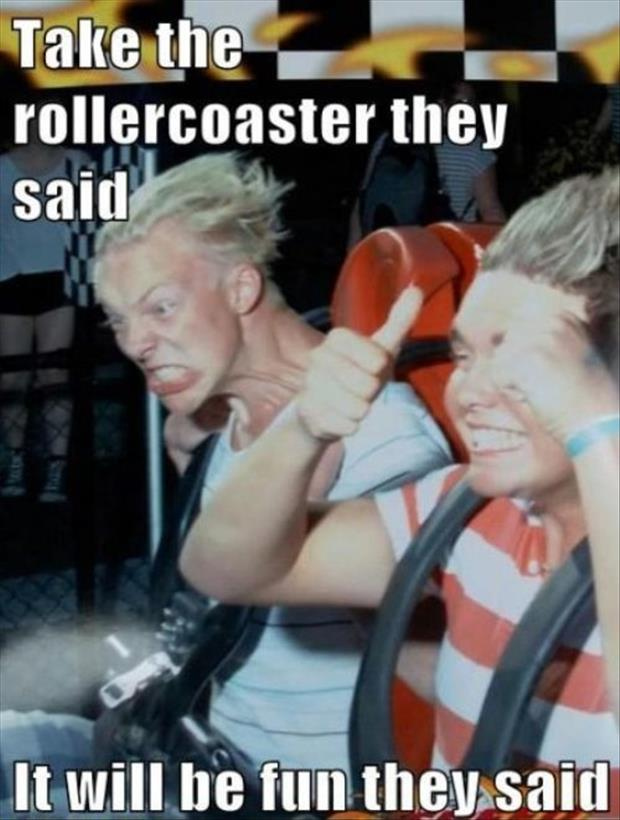 funny faces on roller coasters