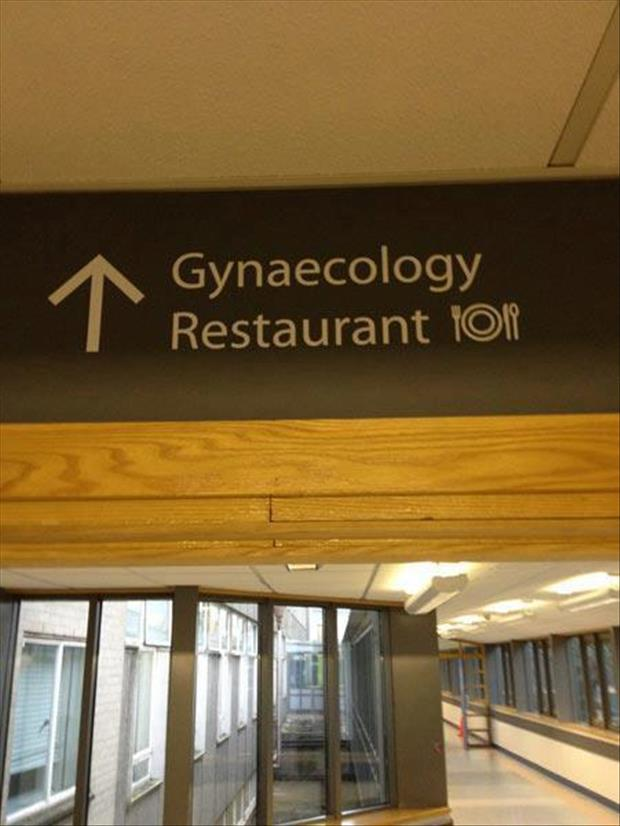 funny hospital signs