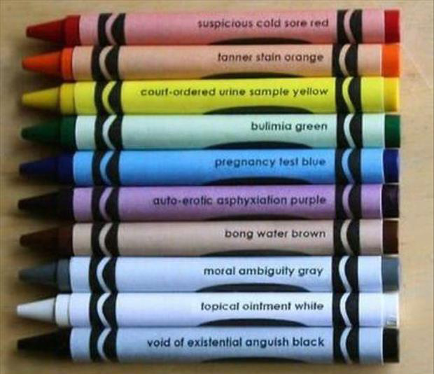 funny names of color crayons