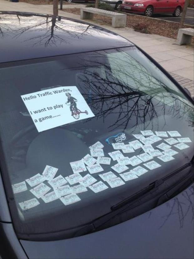 funny notes on cars