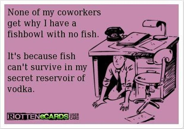 funny office fish