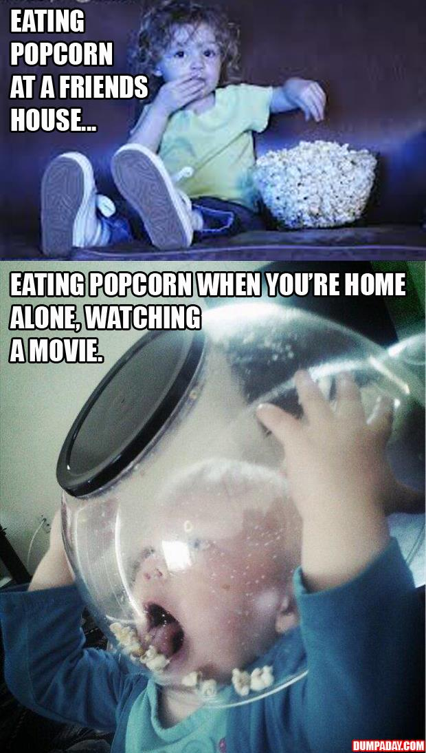 funny pictures eating popcorn