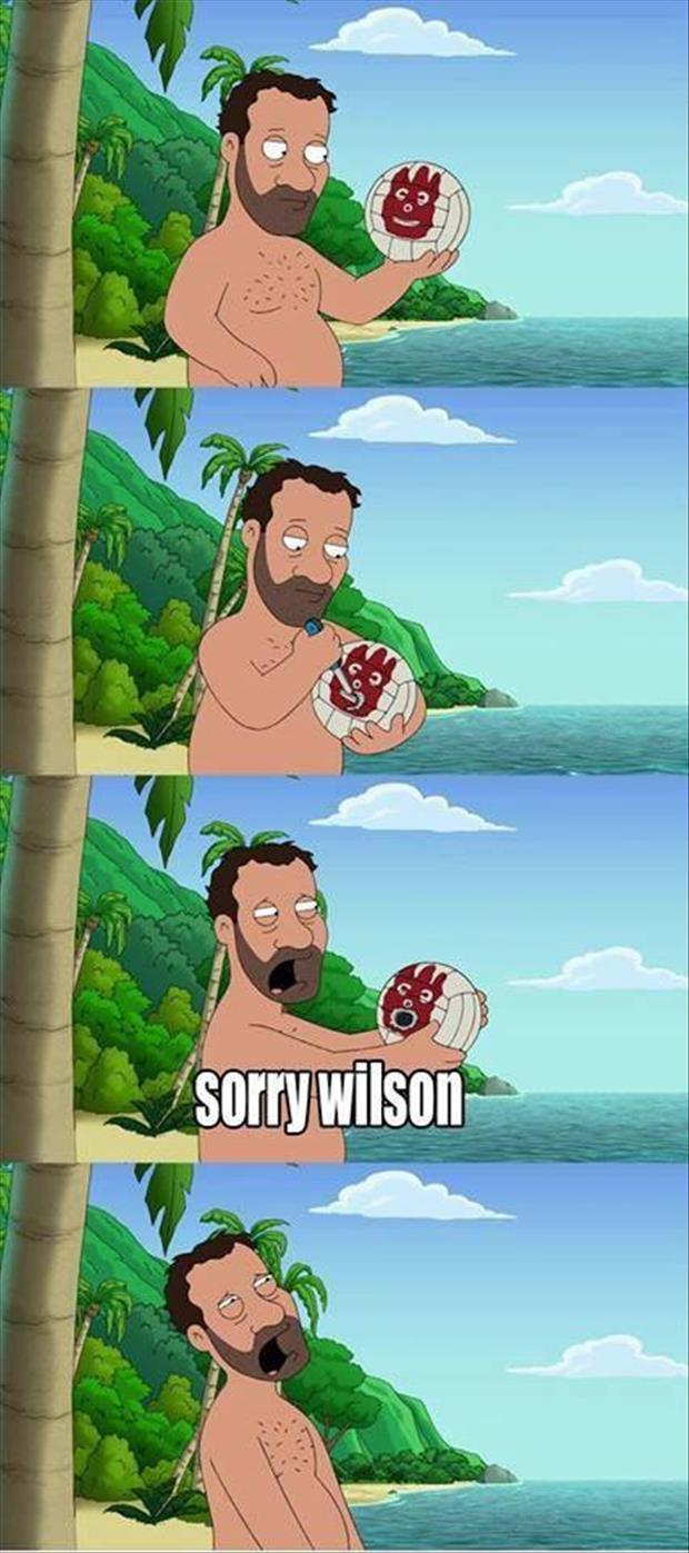 funny pictures wilson from cast away