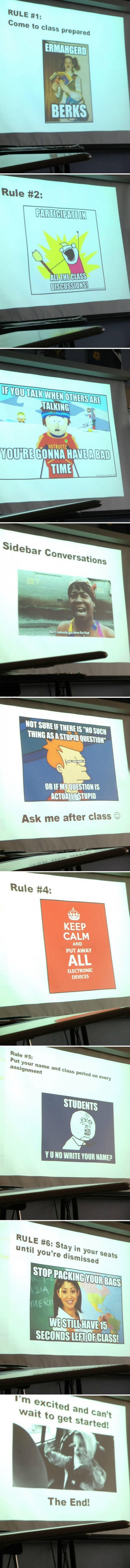 funny rules from teacher