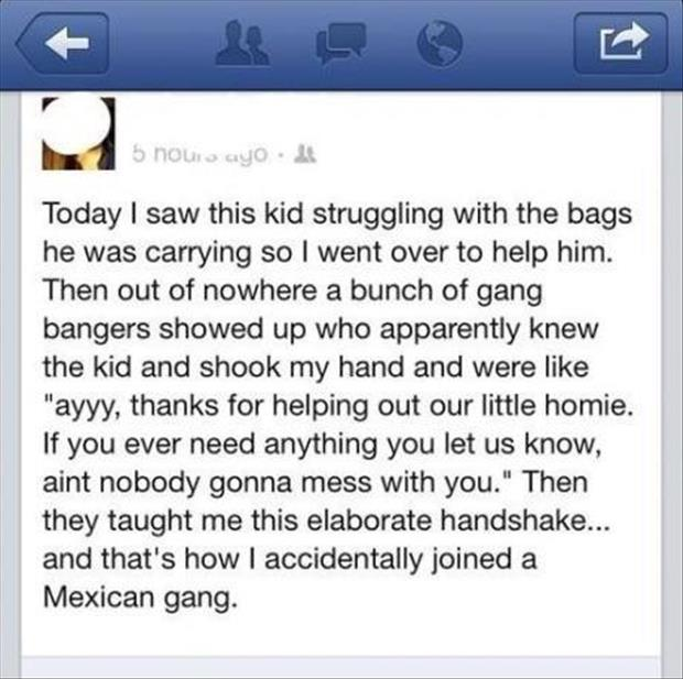 how I accidentally joined a mexican gang
