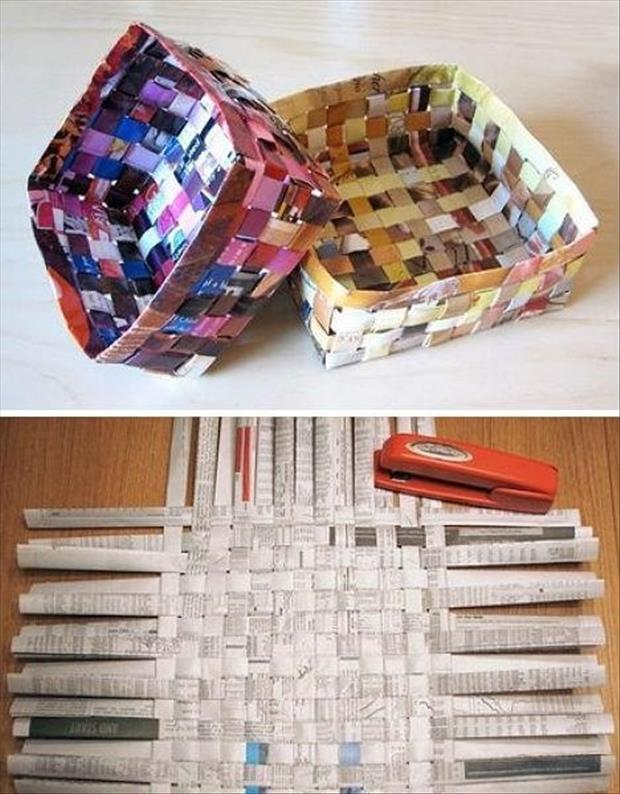 how to make a magazine basket