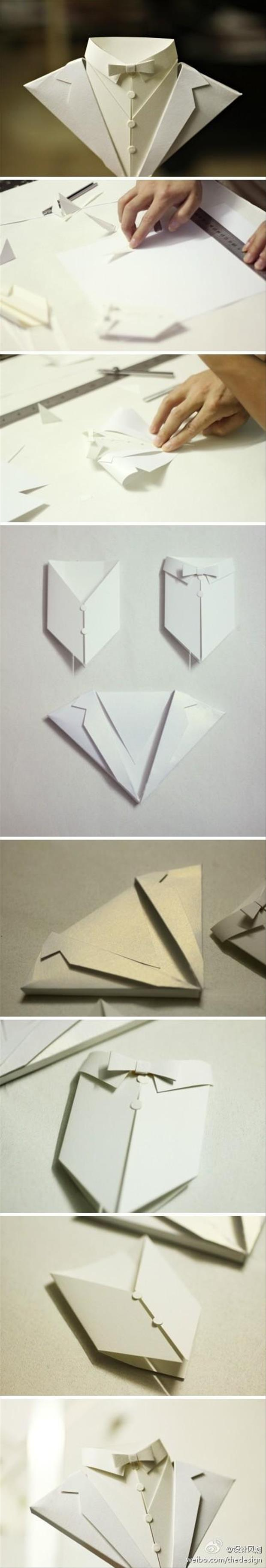 how to make a paper suit