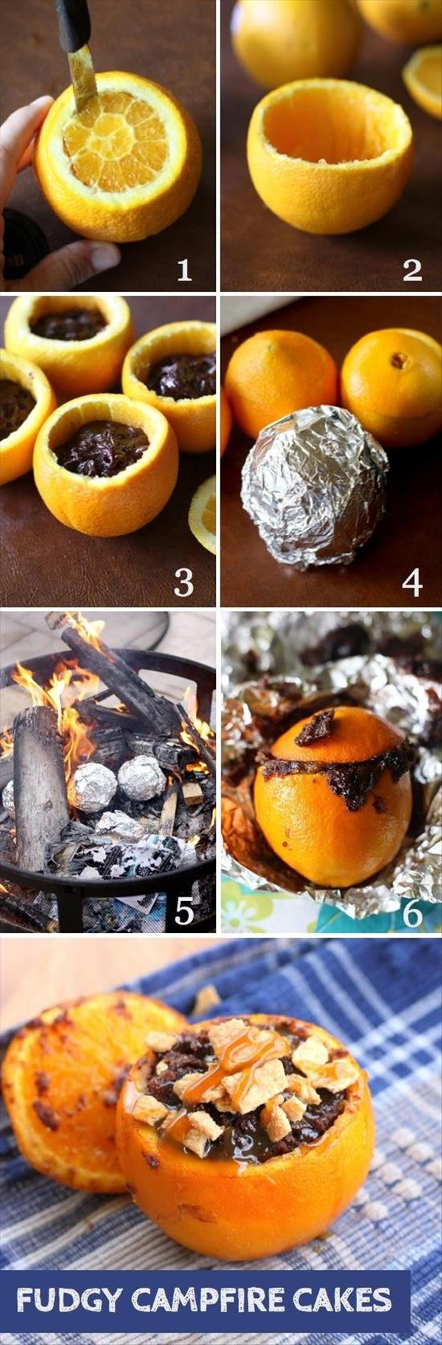 how to make fudge campfire cakes