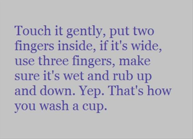 how to wash a cup