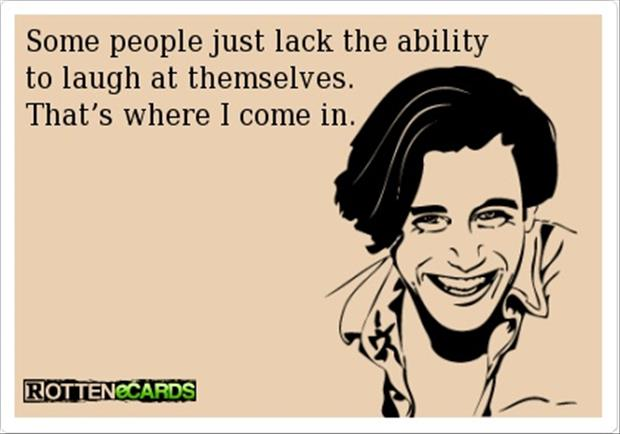laugh at people