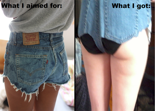 pinterest fails cut off jean shorts