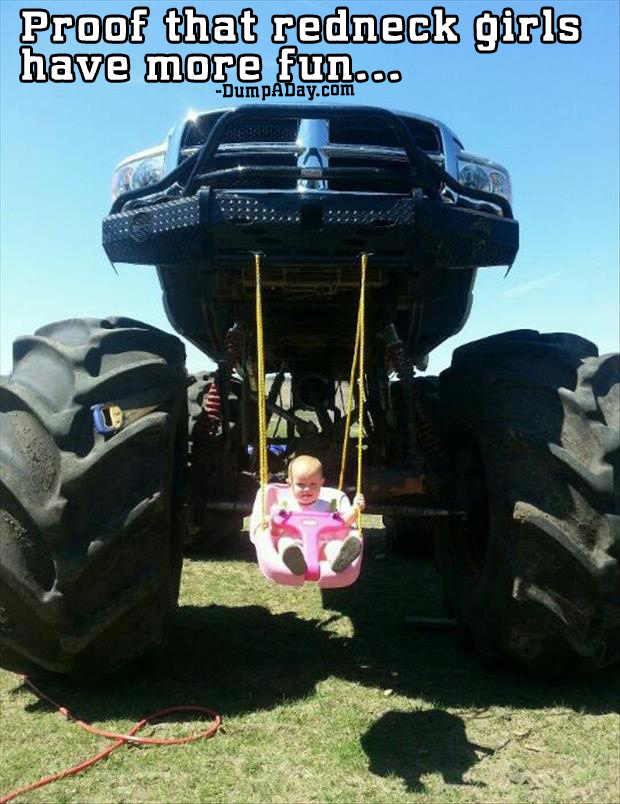 proof that redneck girls have more fun