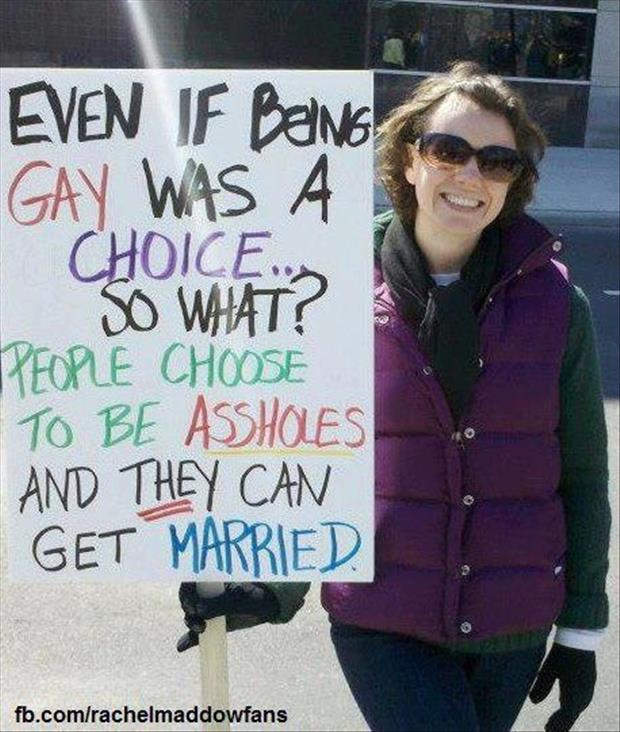 protests gay marriage signs