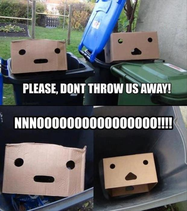 recycle boxes funny pictures