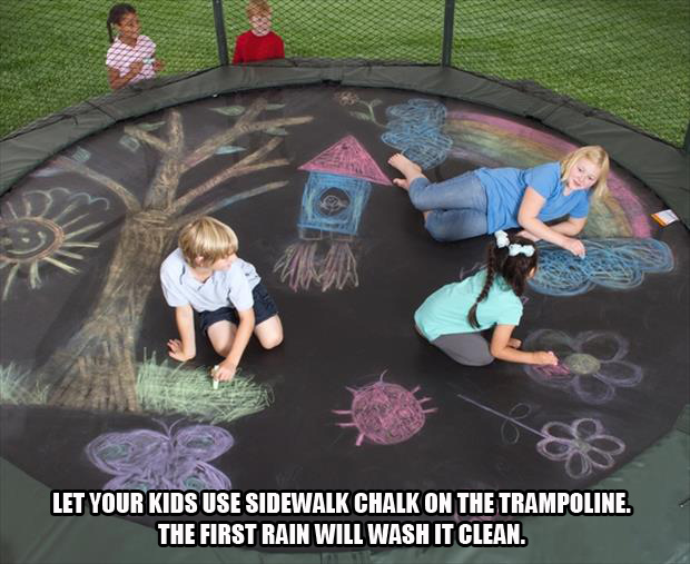 sidewalk chalk for your trampoline