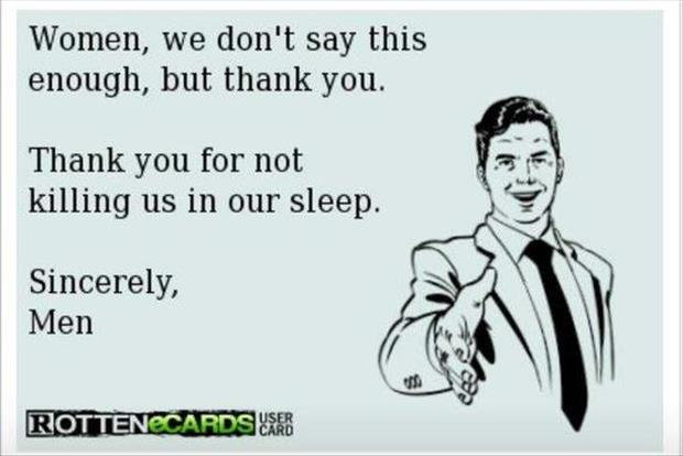 thank you for not killing us in our sleep