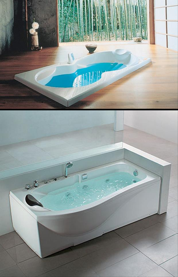 two bathtubs