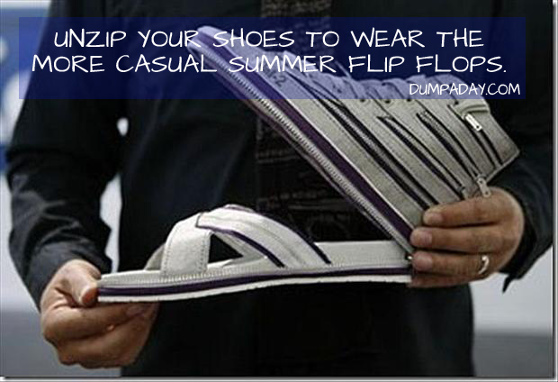 unzip to go from shoe to flip flops