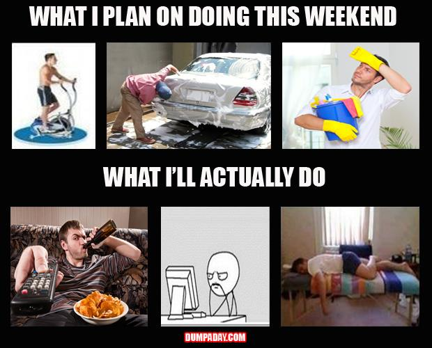 what I plan to do this weekend
