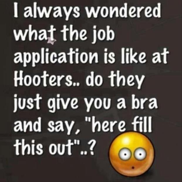 working at hooters