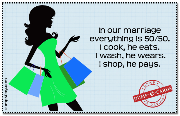 50-50 marriage Dump E-card