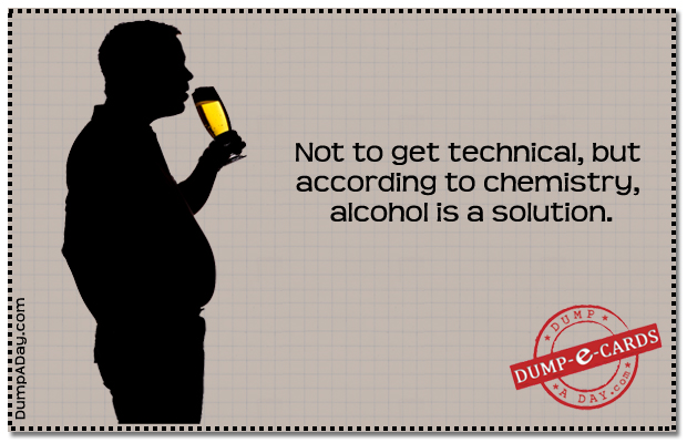 Alcohol Dump E-card