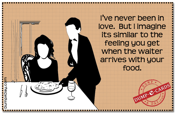 Being in love Dump E-card