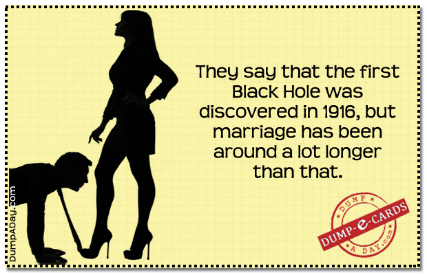 Black hole Dump E-card