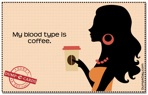 Blood type Dump E-card