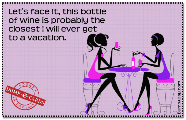 Bottle of wine Dump E-card