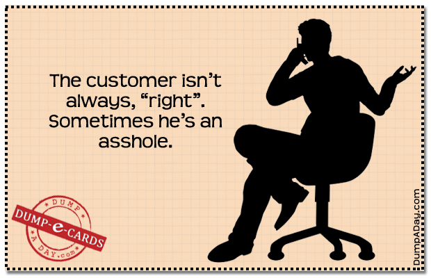 Customer Dump E-card