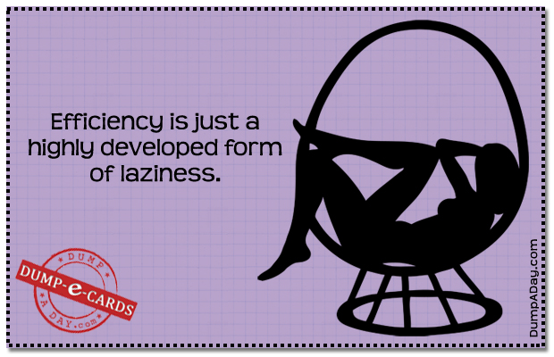 Efficiency Dump E-card