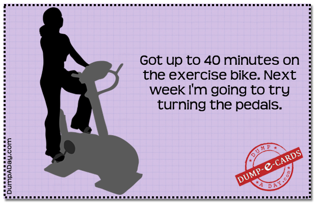 Exercise bike Dump E-card