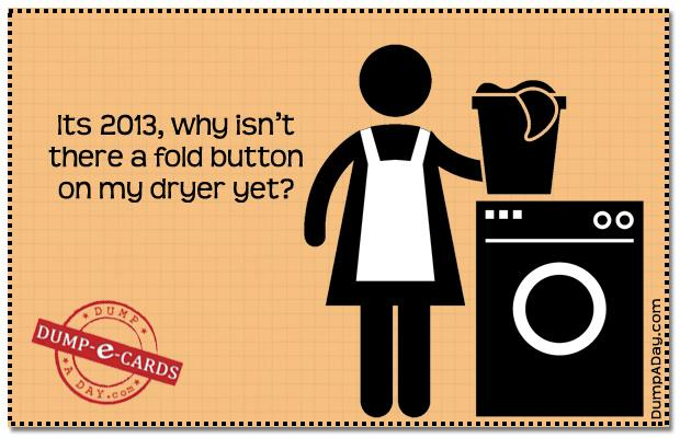 Fold button Dump E-card