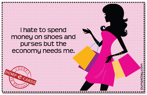 Hate to spend money Dump E-card