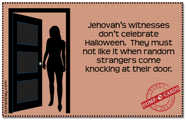Jehovah witnesses Dump E-card