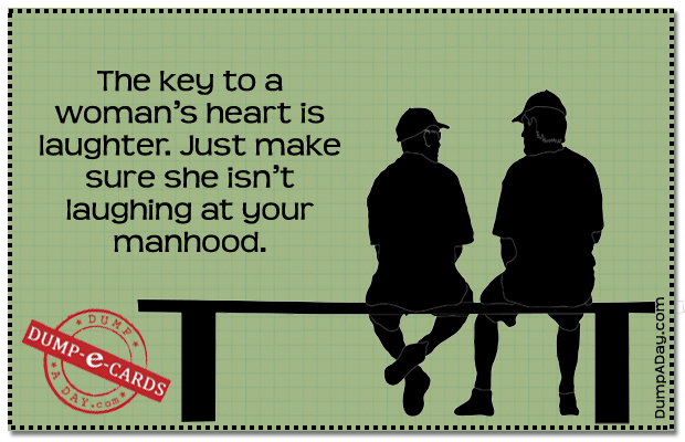 Key to a womans heart Dump E-card