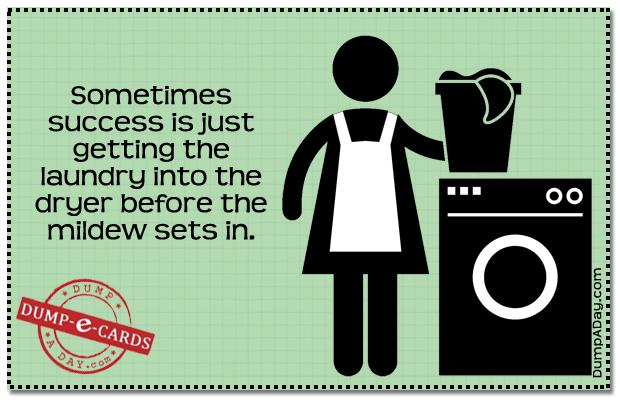 Laundry success Dump E-card